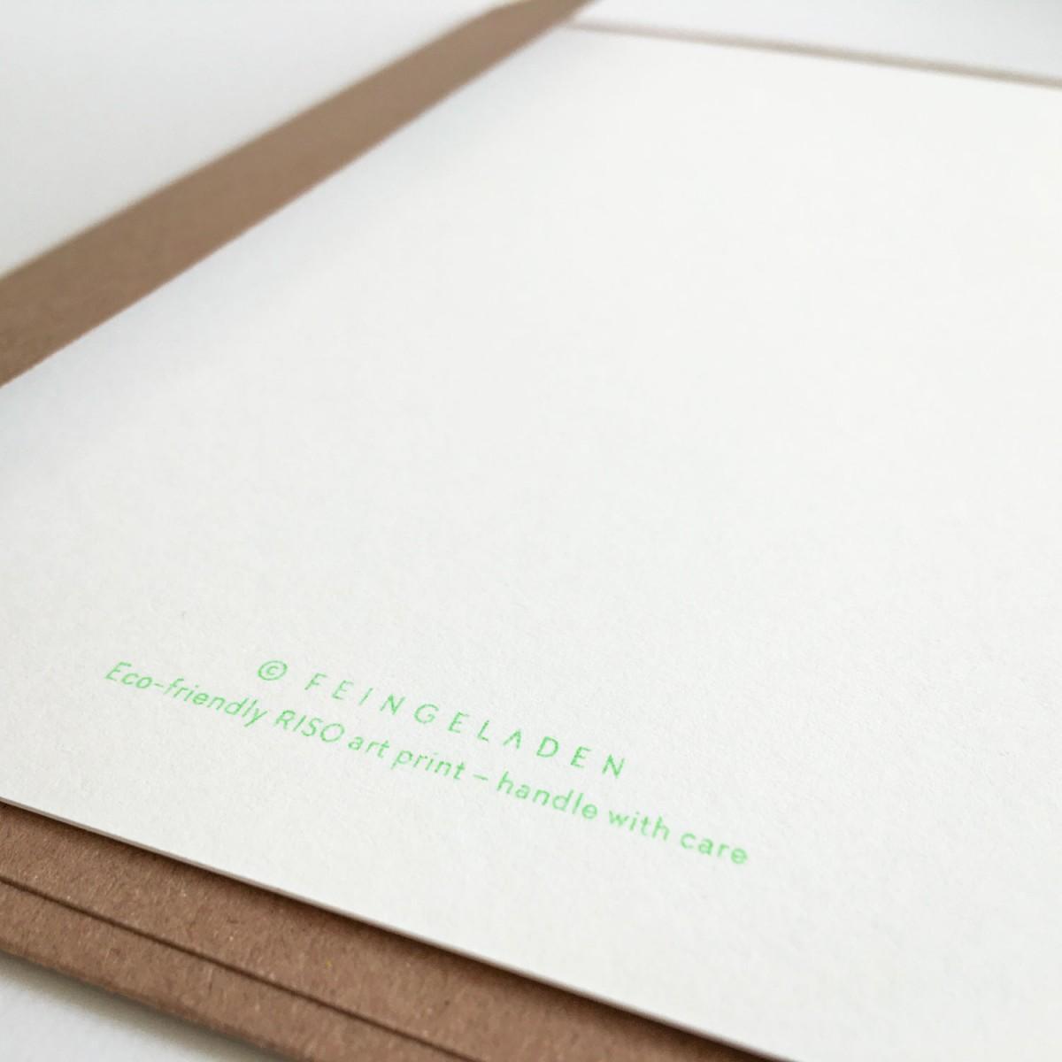 Feingeladen // FLASHY TRIANGLES // Tree (FGMI) Kunstdruck, A5