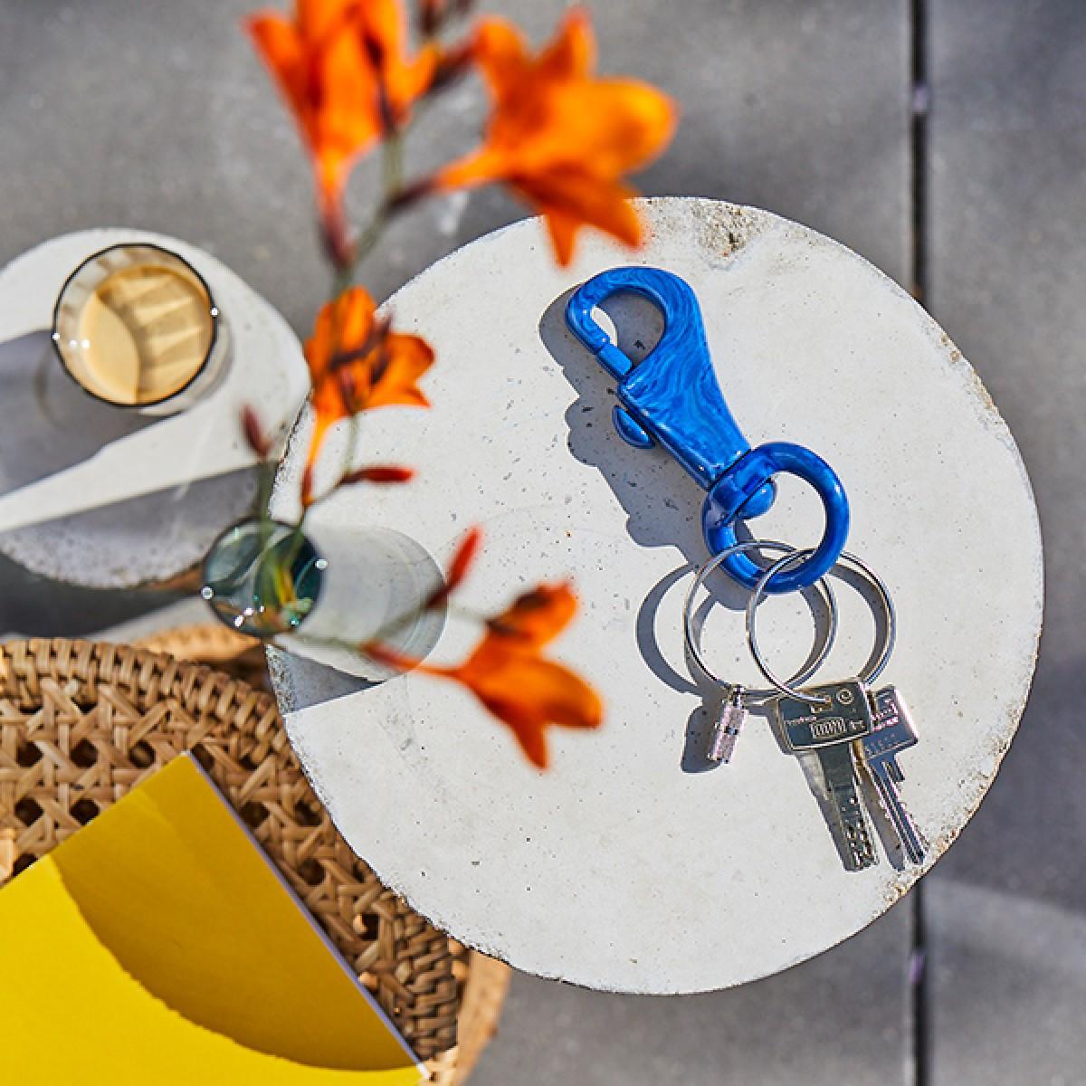 FÚ_CLIP keyring Schlüsselanhänger in navy marbled