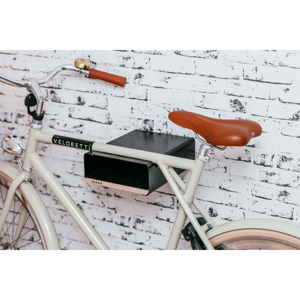 Design Fahrrad-Wandhalterung S-RACK | Schwarz mit Holz Schwarz | für Rennrad Hardtail & Cityrad | Fair & in Deutschland gefertigt