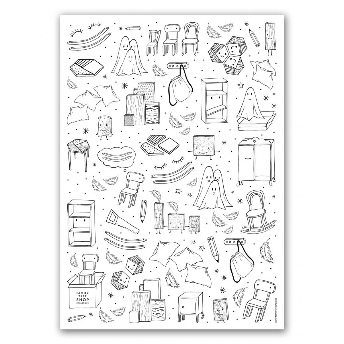 siebdruck poster aus dem family tree shop. Black Bedroom Furniture Sets. Home Design Ideas