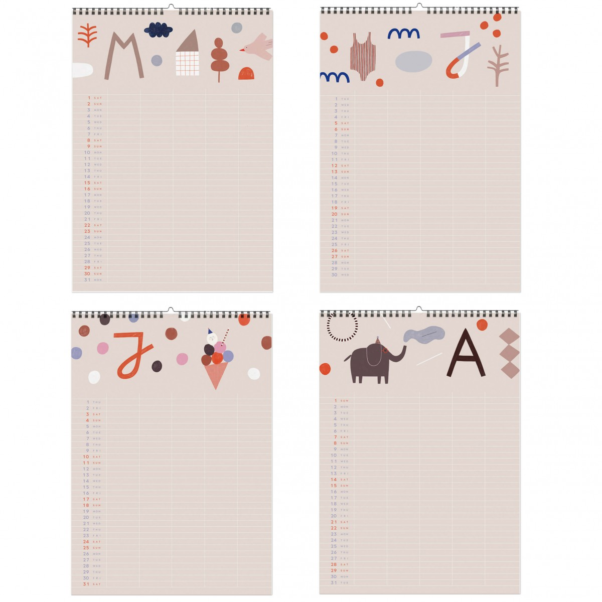 Happy - 2021 Familien-Kalender mit Poster
