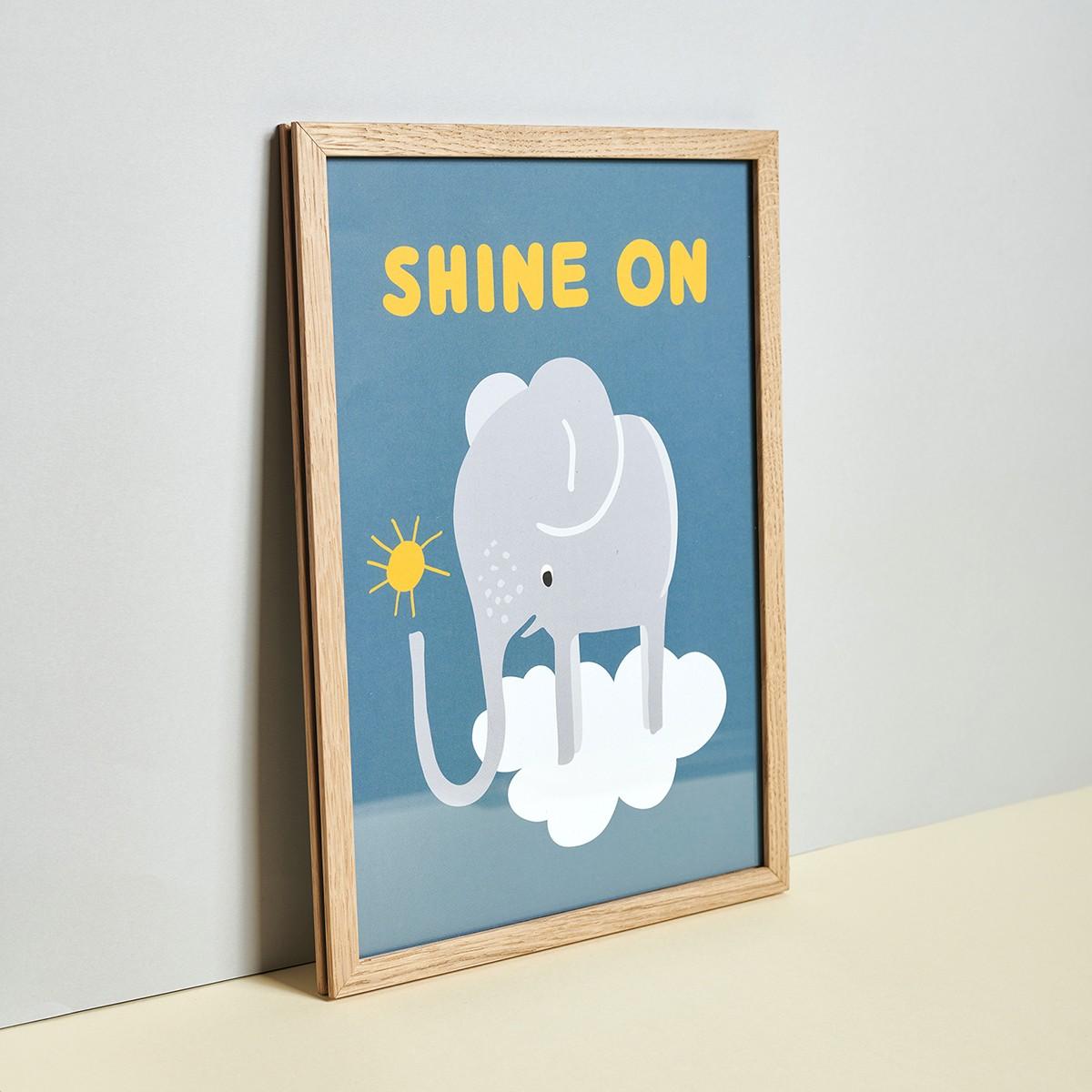 Family Tree Shop / Poster / Elefant blau (DIN A4)