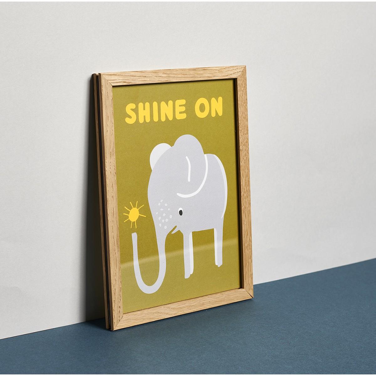 Family Tree Shop / Poster / Elefant rot . grün . blau (DIN A5)