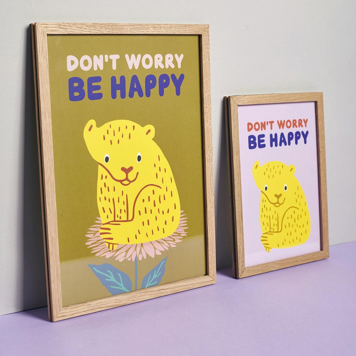 Family Tree Shop / Poster / Elefant Family Tree Shop / Poster A5/ Tiger auf zartrose