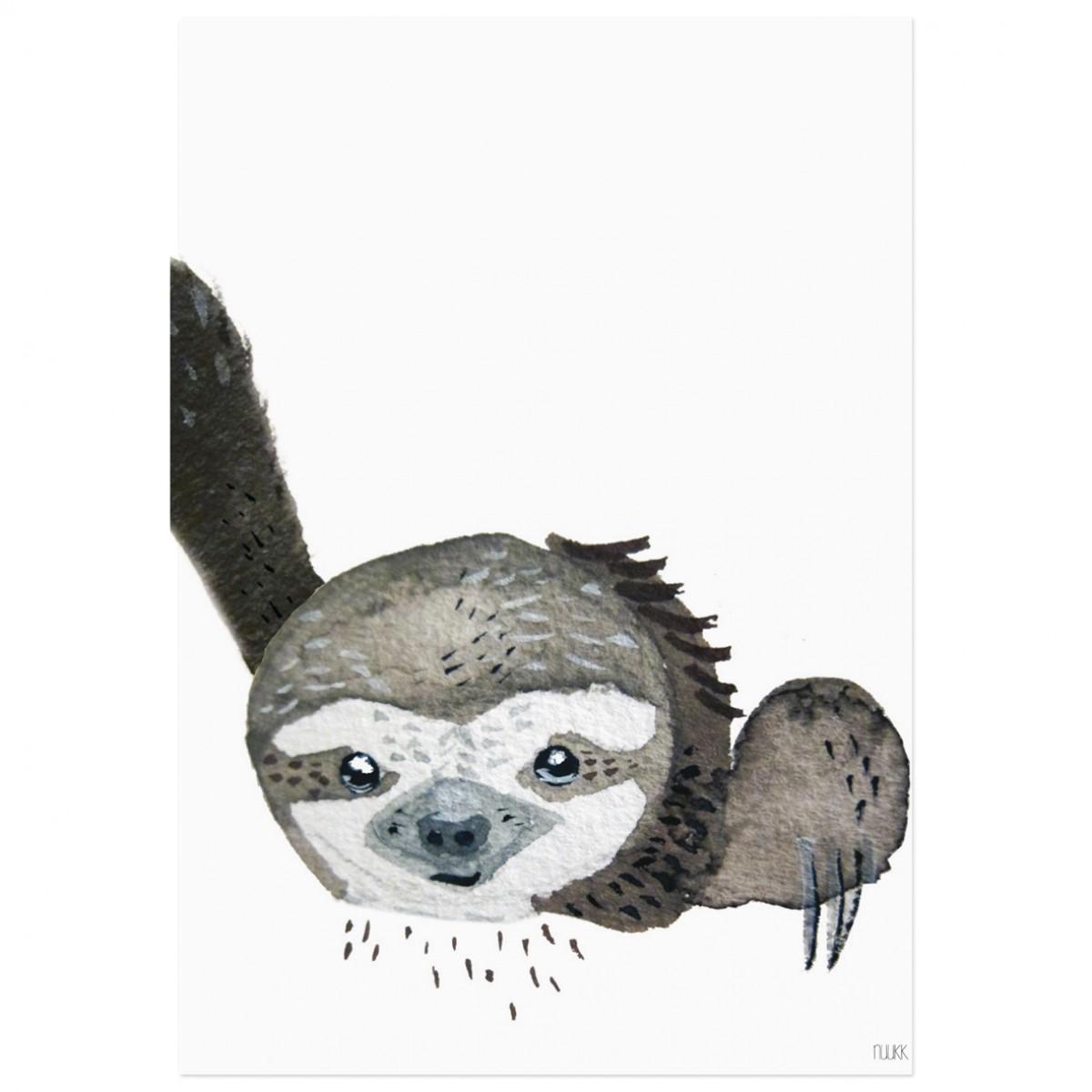 nuukk Faultier-Poster (Din A4)