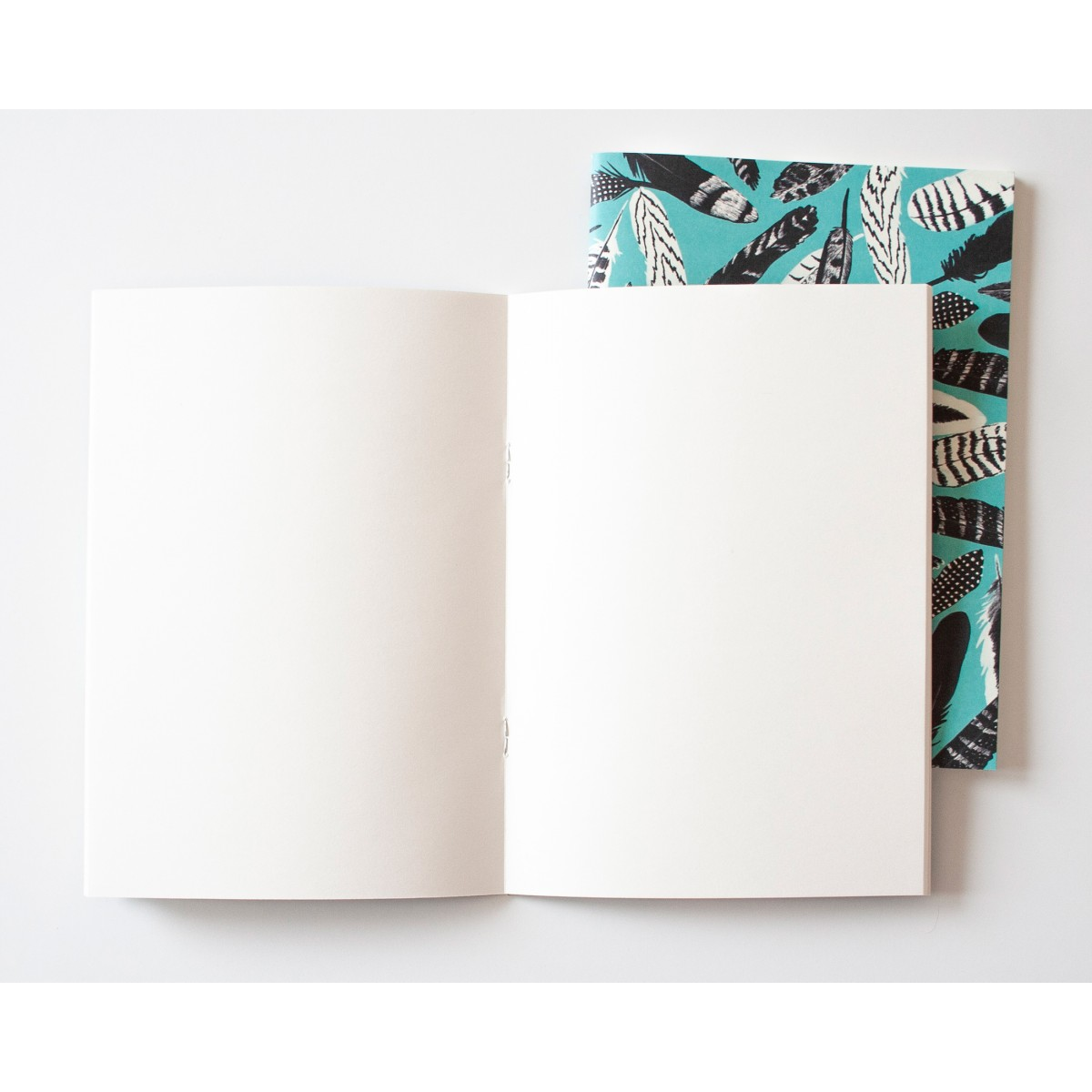 Notizheft A5 Federn blau // Papaya paper products