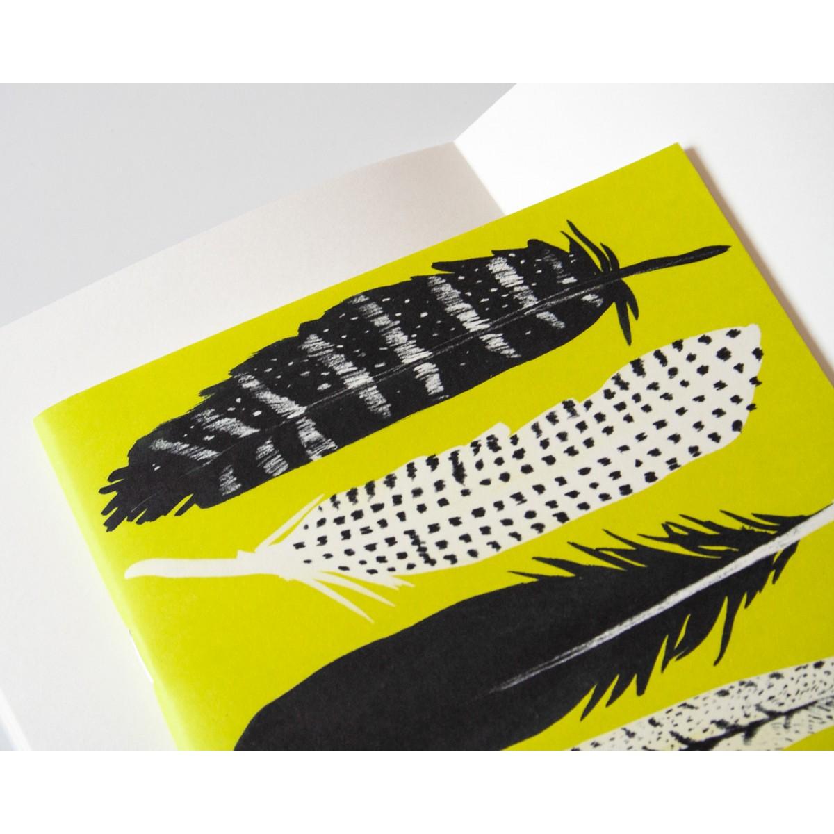 Notizheft A5 Federn gelb // Papaya paper products