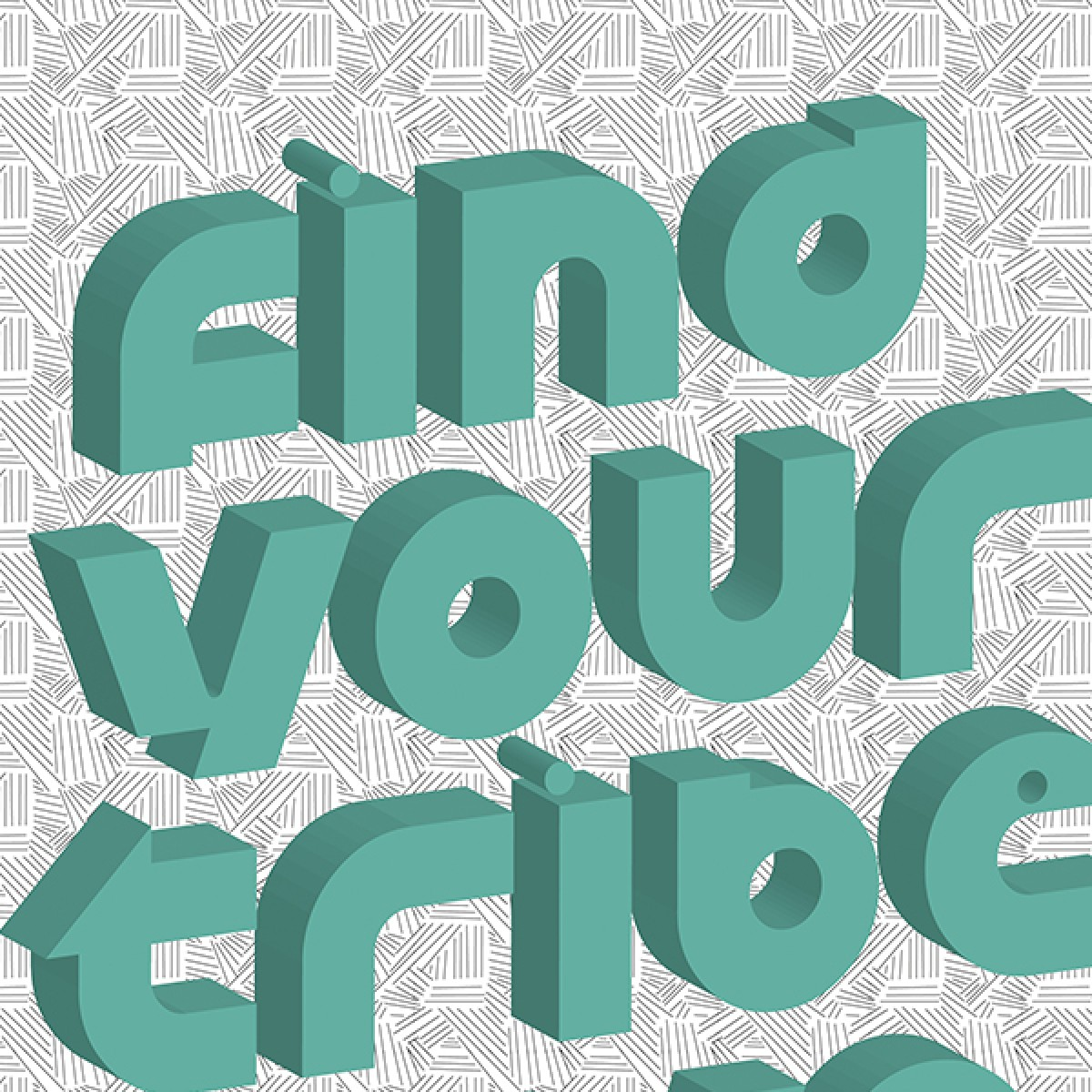 "ZEITLOOPS ""Find your tribe…"", Posterprint 40x60cm"