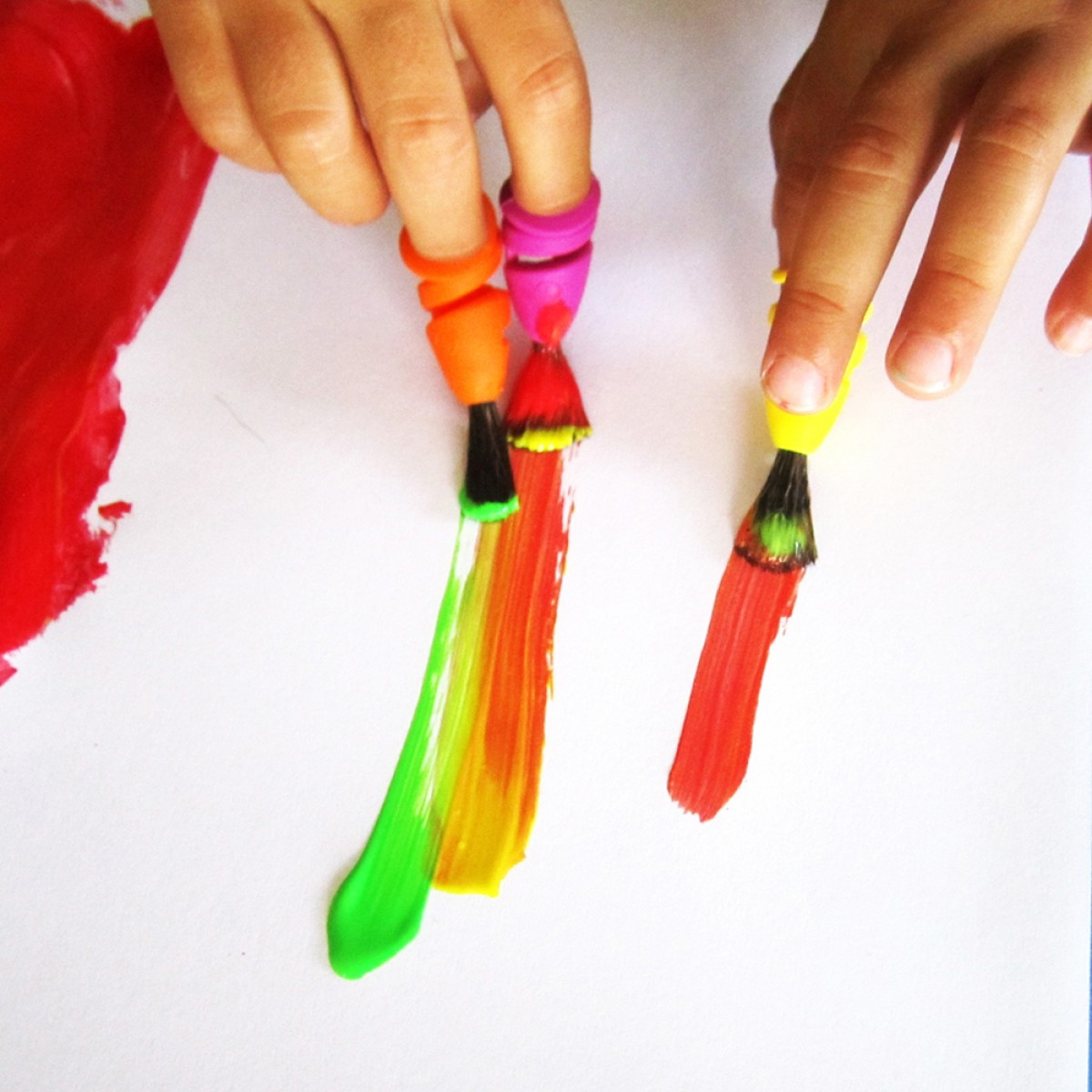 FINGERMAX - Fingerpinsel Schülerparty Set (14 Stück Fingermaxpinsel)