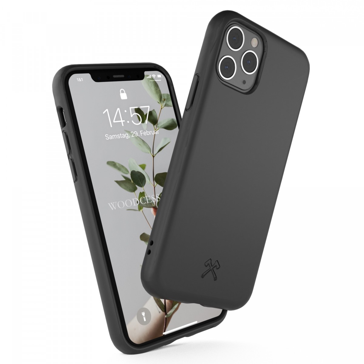 Woodcessoires – Nachhaltige iPhone Hülle aus Bio-Material für iPhone SE / XS / 11 / Pro / Max (schwarz)