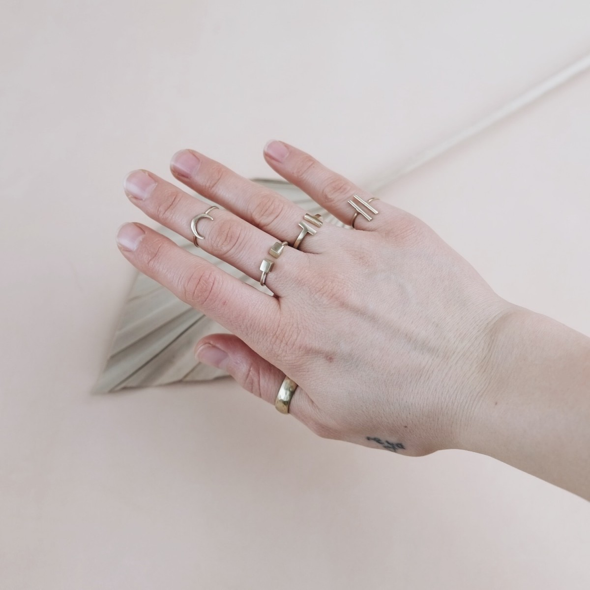 BRASSCAKE // Tiny Moon Ring