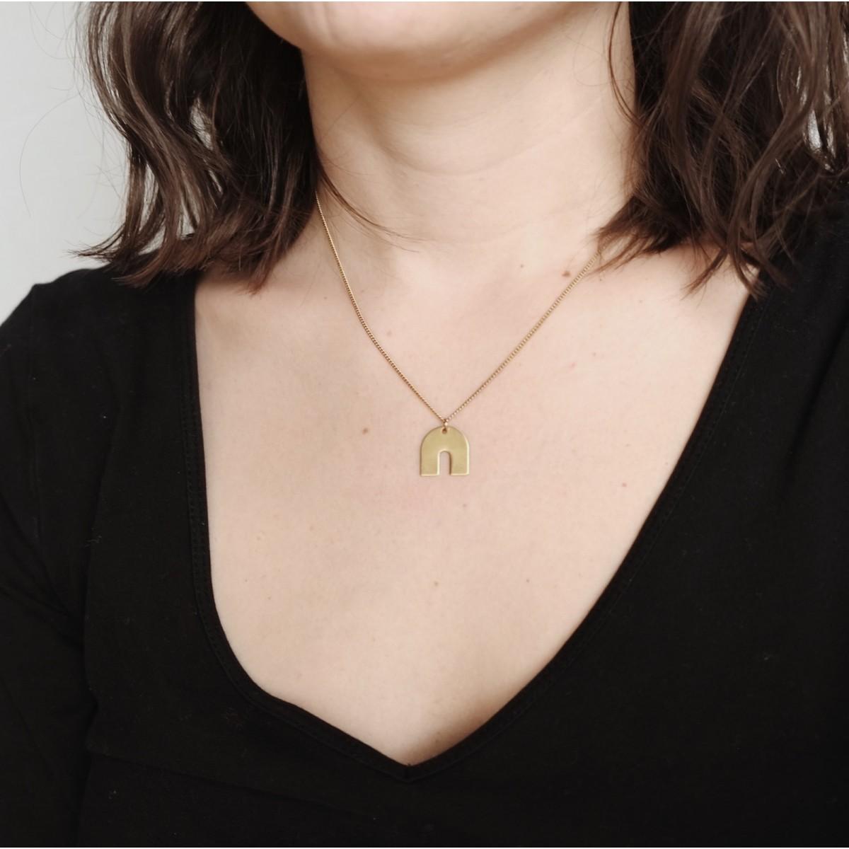 BRASSCAKE // Tiny Rainbow Necklace