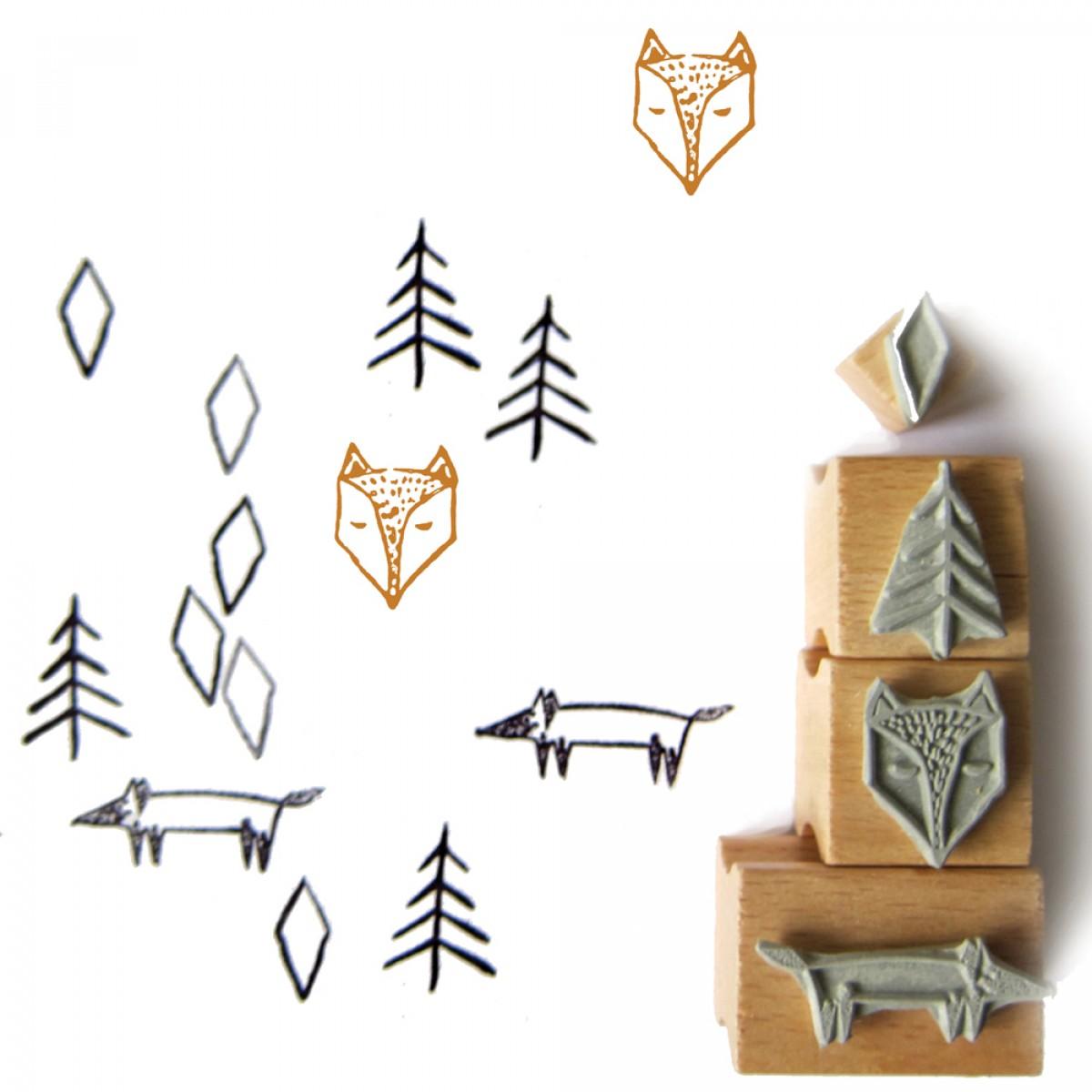 nuukk Fuchs im Wald Stempelset