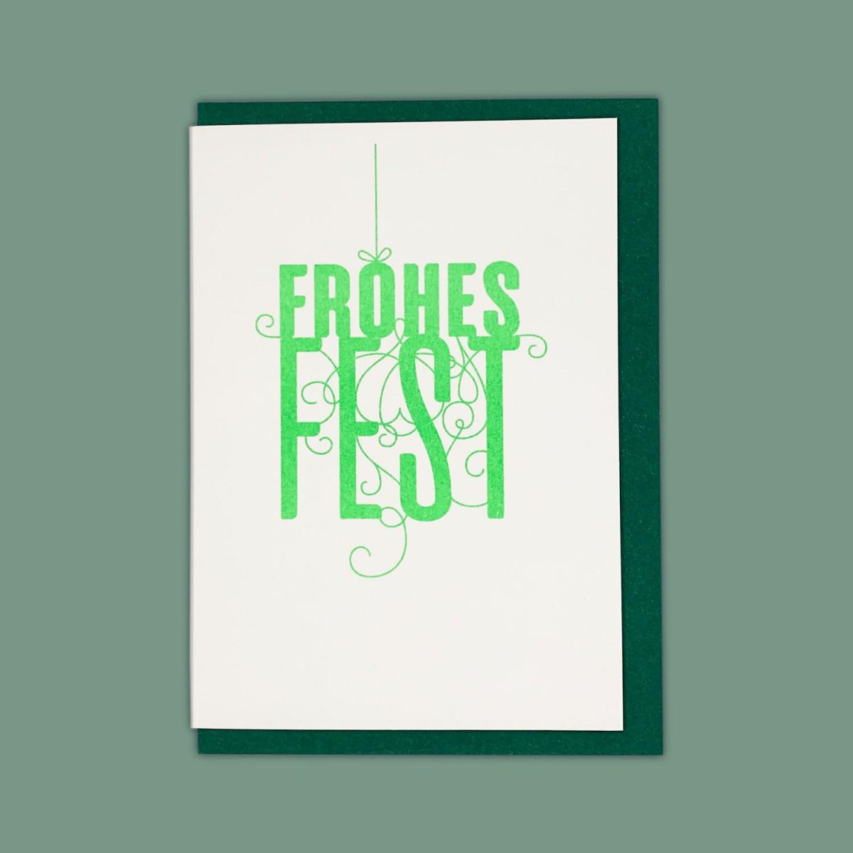 Feingeladen // FANCY TYPE // Frohes Fest (FG) – A6