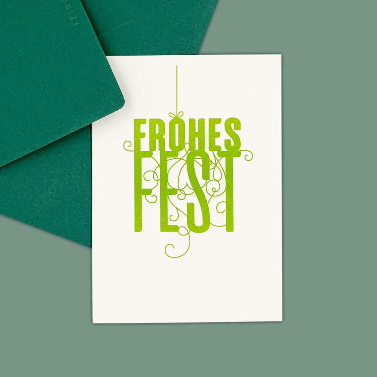 Feingeladen // FANCY TYPE // Frohes Fest (LG) // RISO-Klappkarte, A6