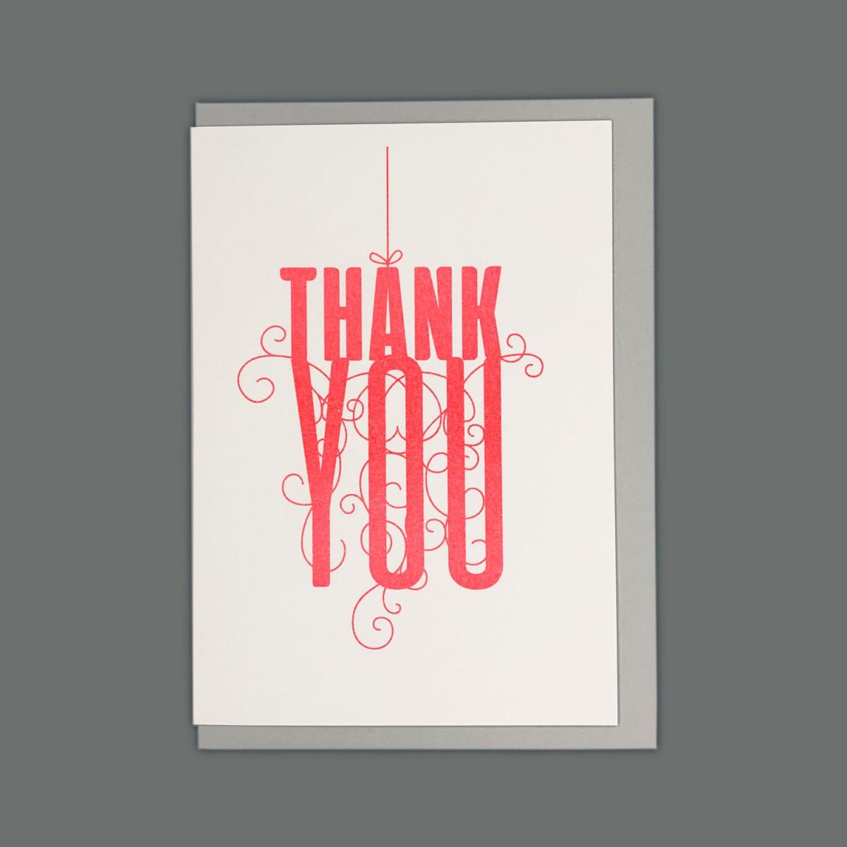 Feingeladen // FANCY TYPE // Thank you (FR) // RISO-Klappkarte, A6