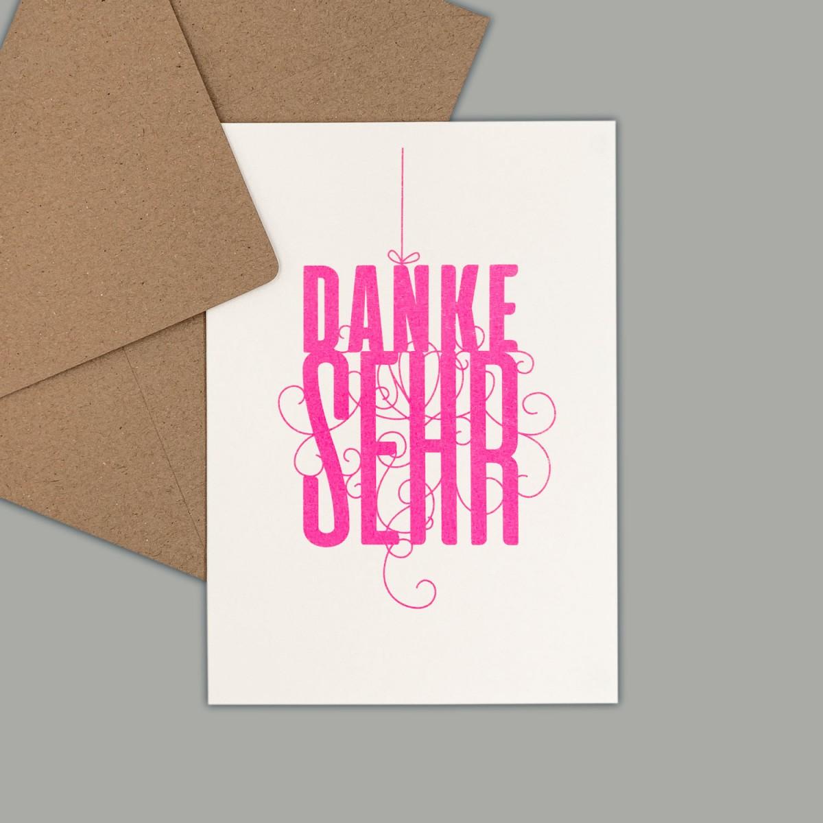 Feingeladen // FANCY TYPE // Danke sehr (FP) // RISO-Klappkarte, A6