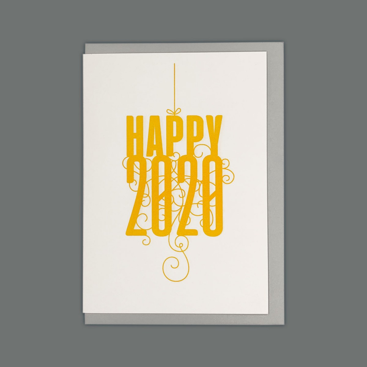 Feingeladen // FANCY TYPE // Happy 2020 (SF) // RISO-Klappkarte, A6