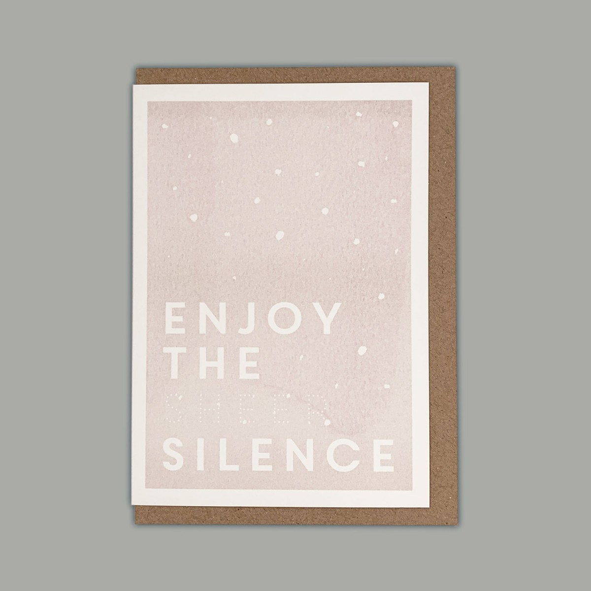 Feingeladen // KARAOKE INSPIRED // Enjoy the sheer Silence (BQ) // RISO-Klappkarte, A6