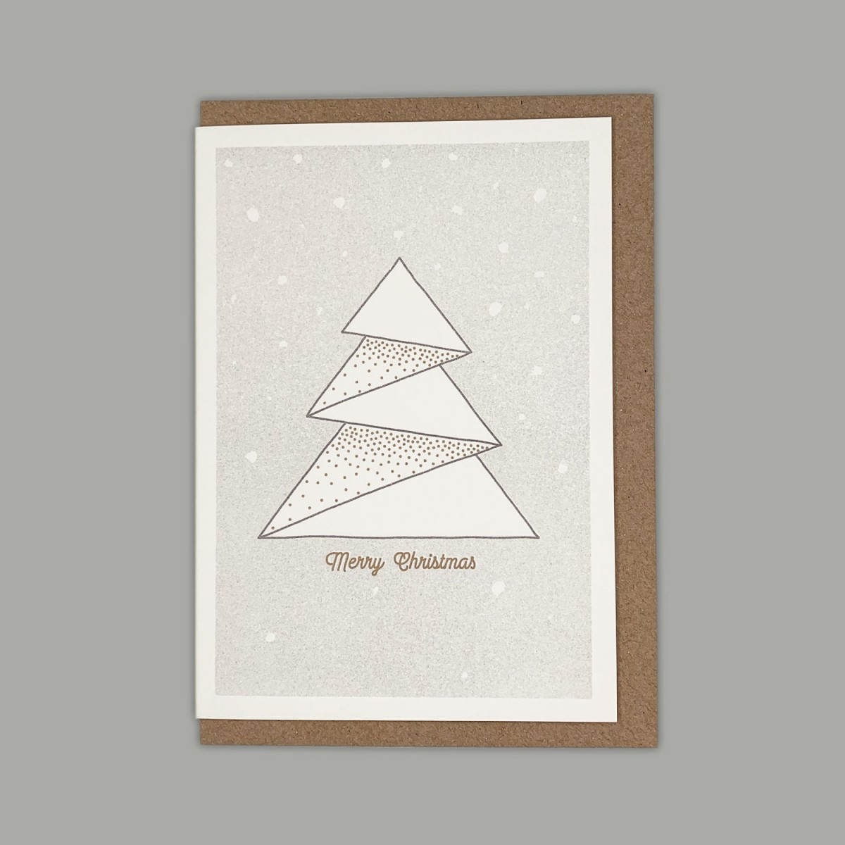 Feingeladen // LIKE ORIGAMI // Tree »Merry Christmas« (GRGD) – A6