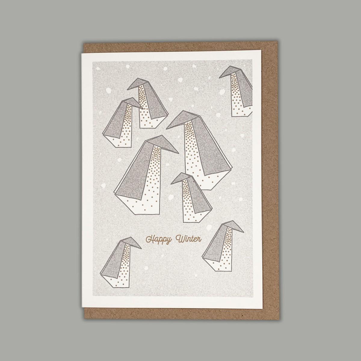 Feingeladen // LIKE ORIGAMI // Penguins »Happy Winter« (GRGD) – A6