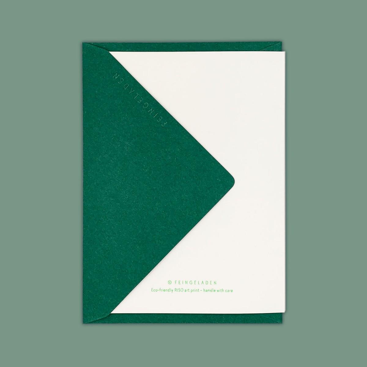 Feingeladen // LINE ART // Tree (FG) // RISO-Klappkarte, A6