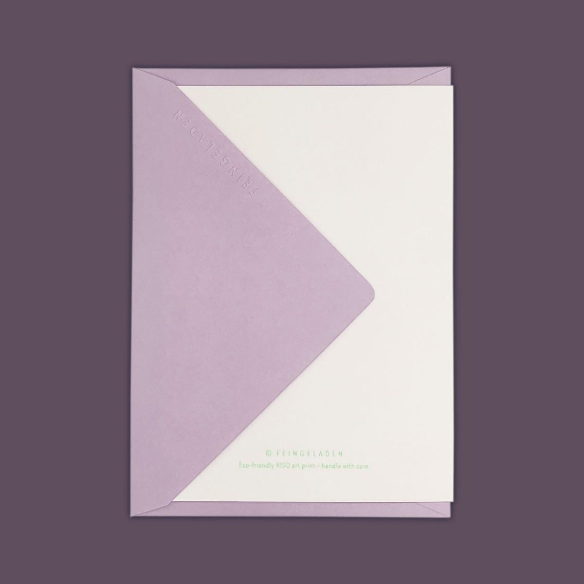 Feingeladen // LOVELY BEASTS // Lamb »Frohe Ostern« (FG) // RISO-Klappkarte, A6