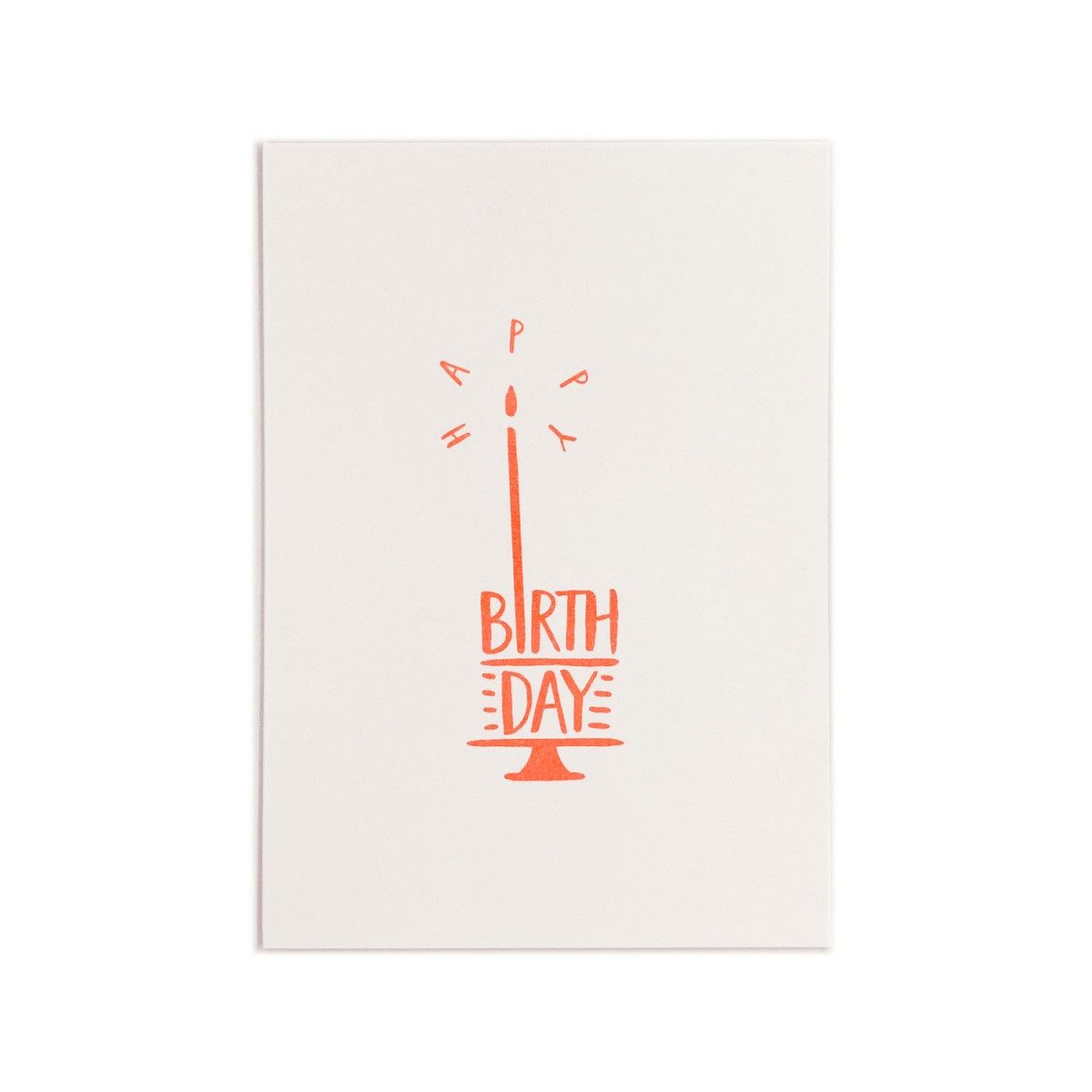 Feingeladen // TYPOGRAFICA // Happy Birthday (FO) // RISO-Klappkarte, A6