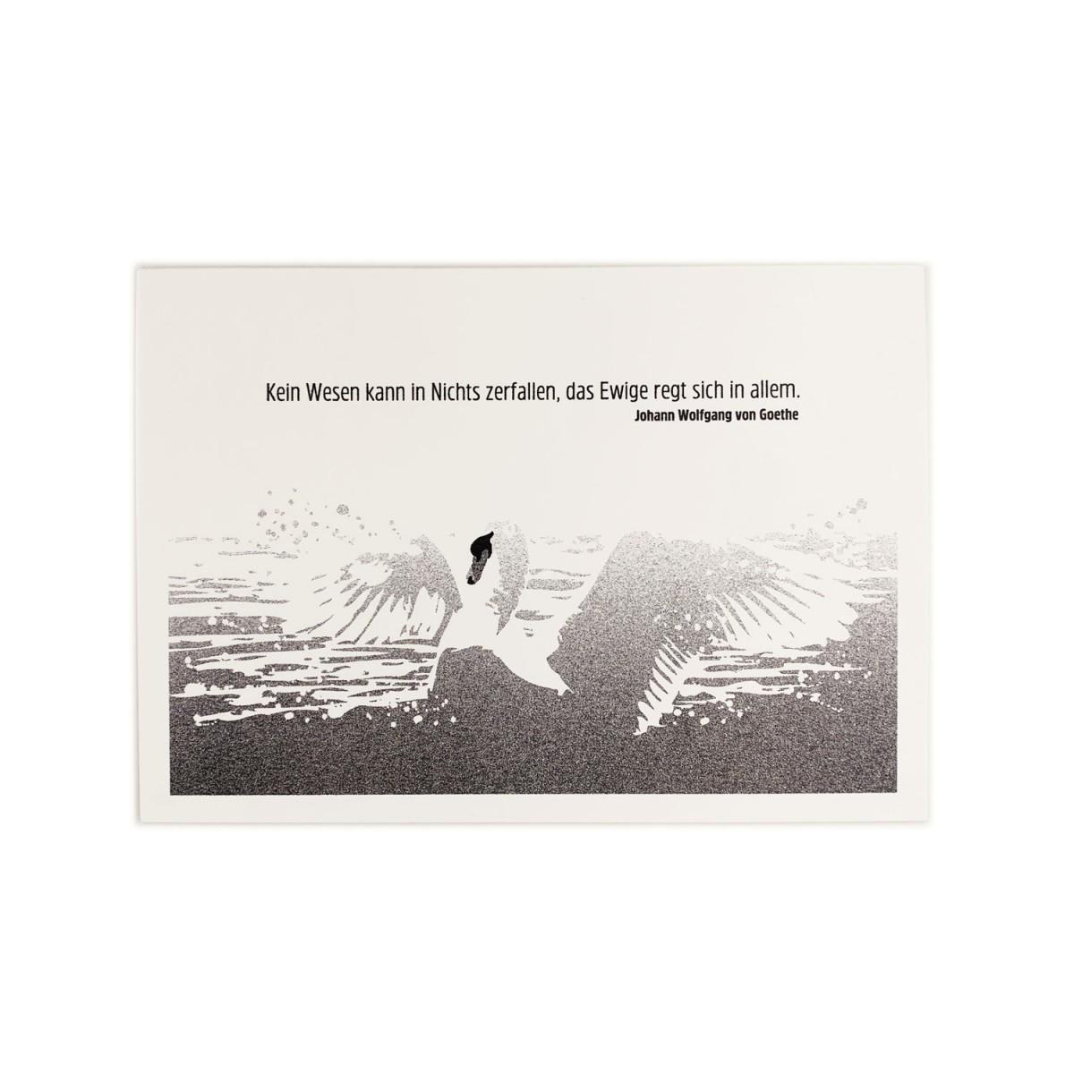 Feingeladen // MAGIC WORDS // Goethe Zitat (BK) // RISO-Klappkarte, A6