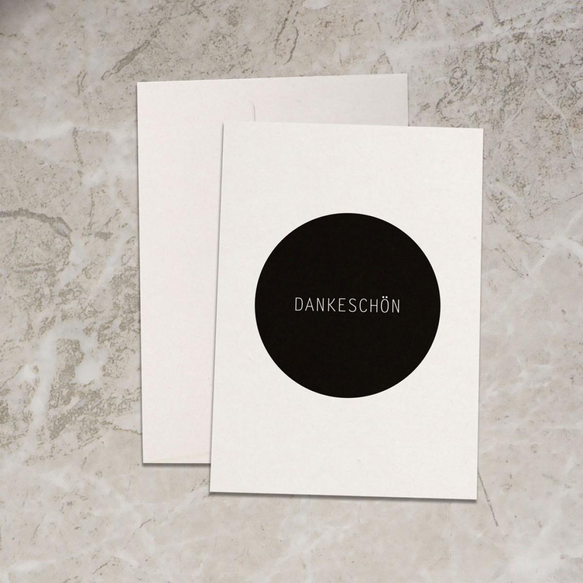 "Love is the new black – Grußkarte ""Dankeschön"""