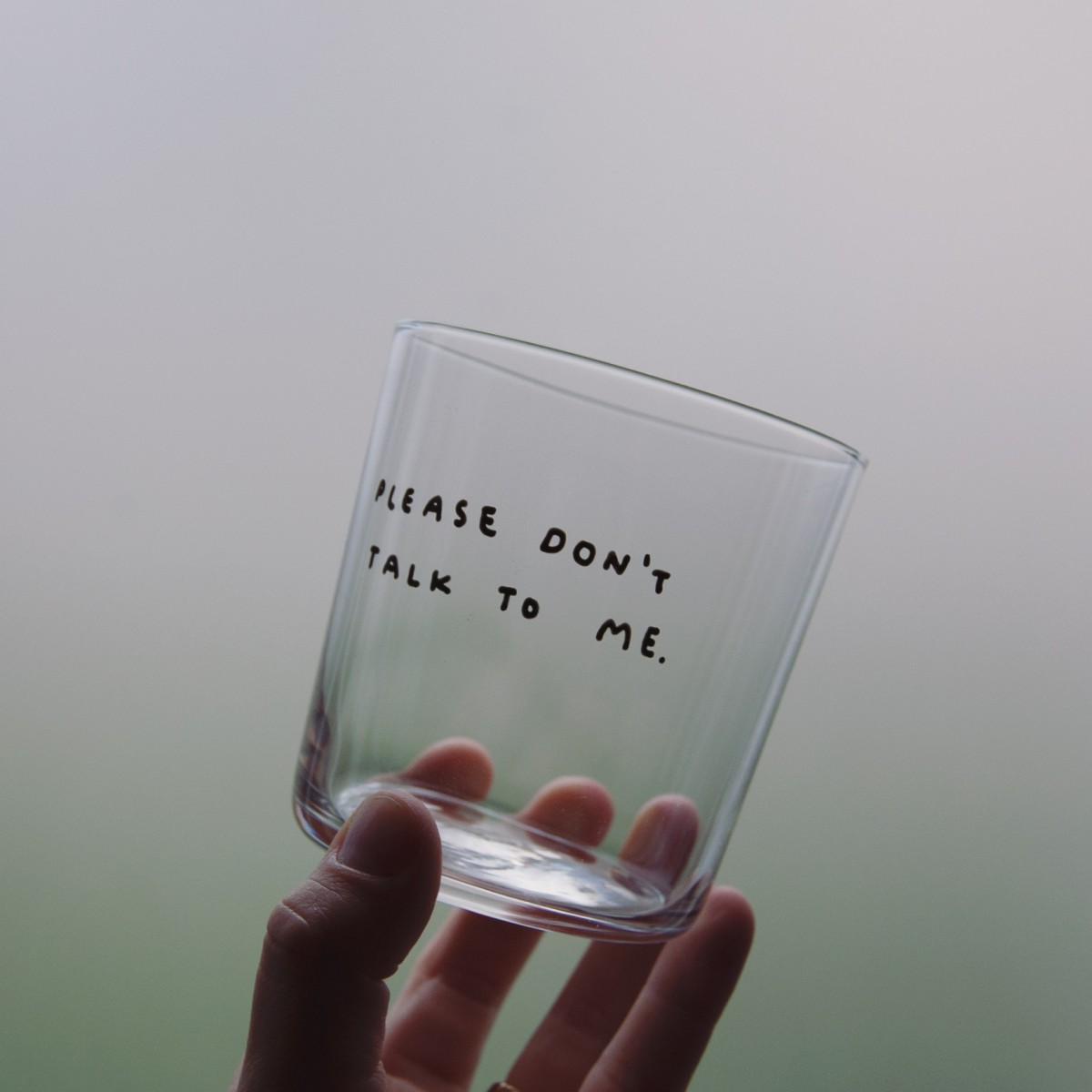 PLEASE DON'T TALK TO ME Glas – Johanna Schwarzer