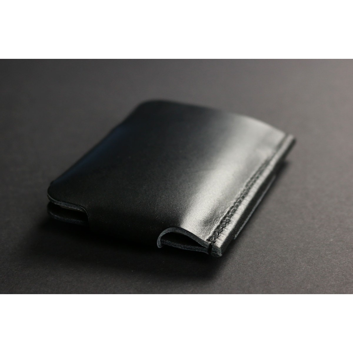 Gentleman Slim Wallet aus Premium Leder - schwarz