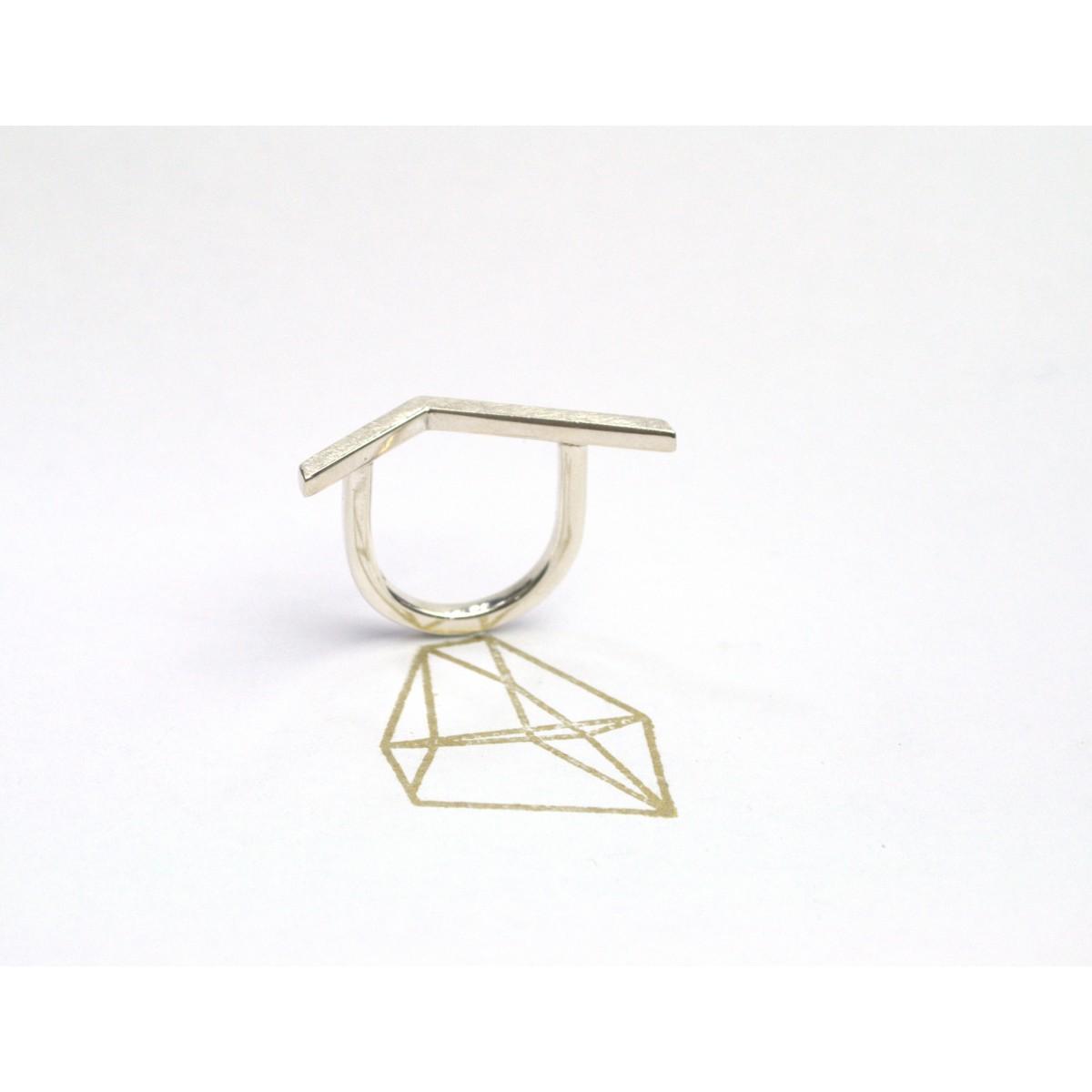 """Ring """"GEKNICKT"""" aus 925/- Silber von DOPPELLUDWIG"""
