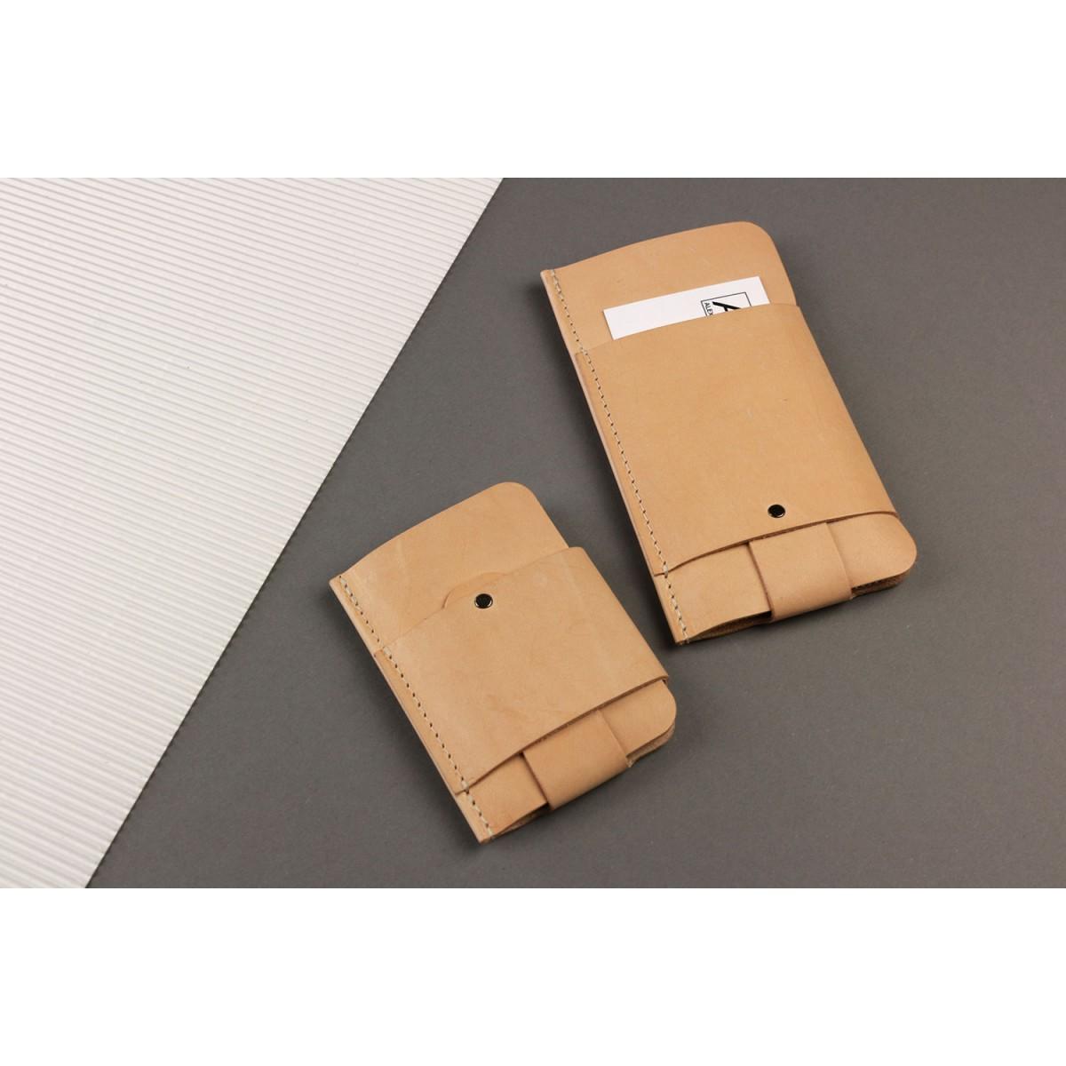 Gentleman Slim Wallet aus Leder - Natur [N]