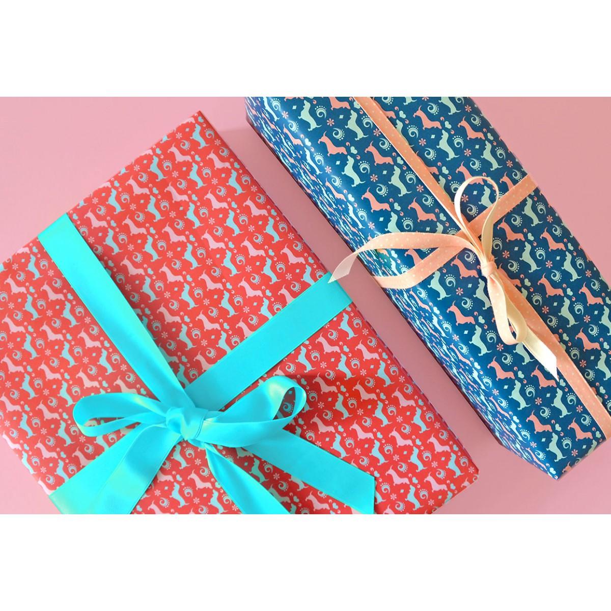 Geschenkpapier WALDI dunkelblau // 3 Bögen