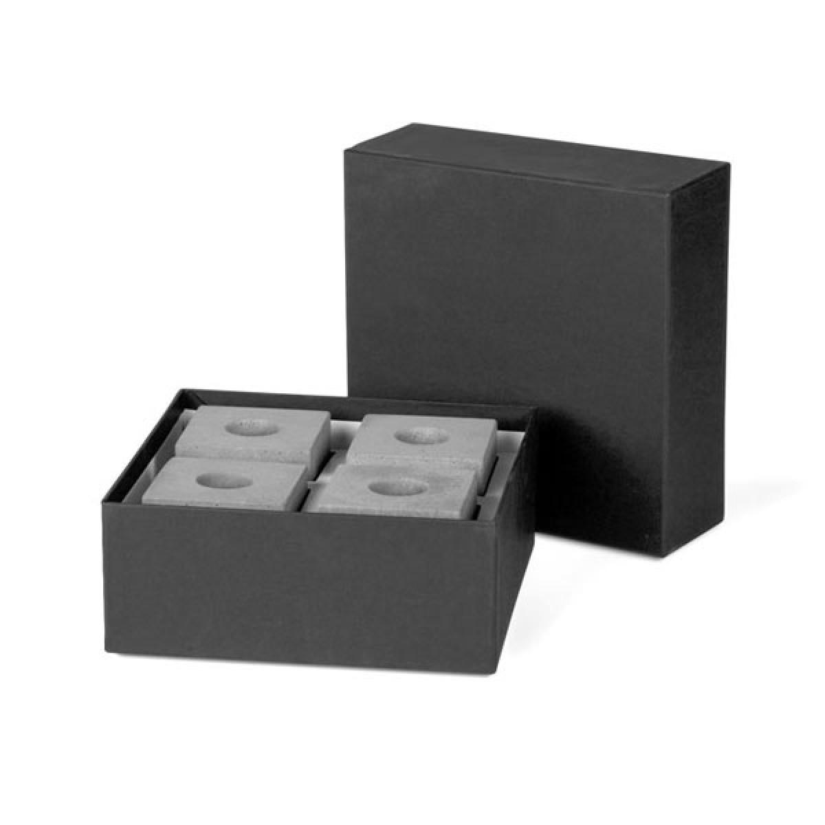 """Korn Produkte Geschenkset Kerzenleuchter """"Block"""" für Stabkerzen (vierteilig)"""