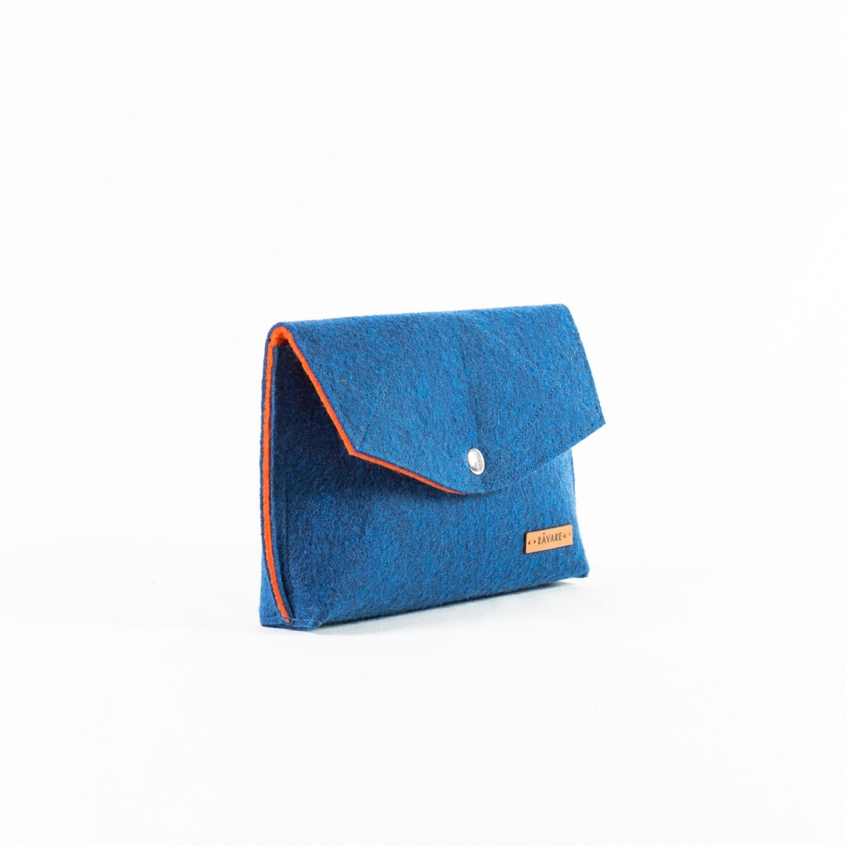 RÅVARE Schicke Umhängetasche mit 2 Tragemöglichkeiten, Clutch & Gürteltasche, kleine Handtasche, Abendtasche in blau-orange [GJOKO]