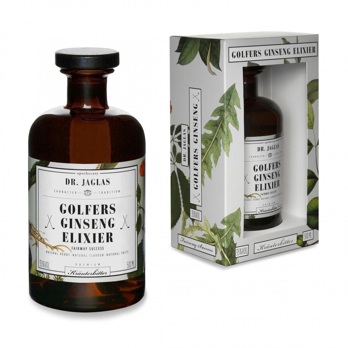 DR. JAGLAS Golfers Ginseng-Elixier 500ml Kräuterbitter 35%vol.