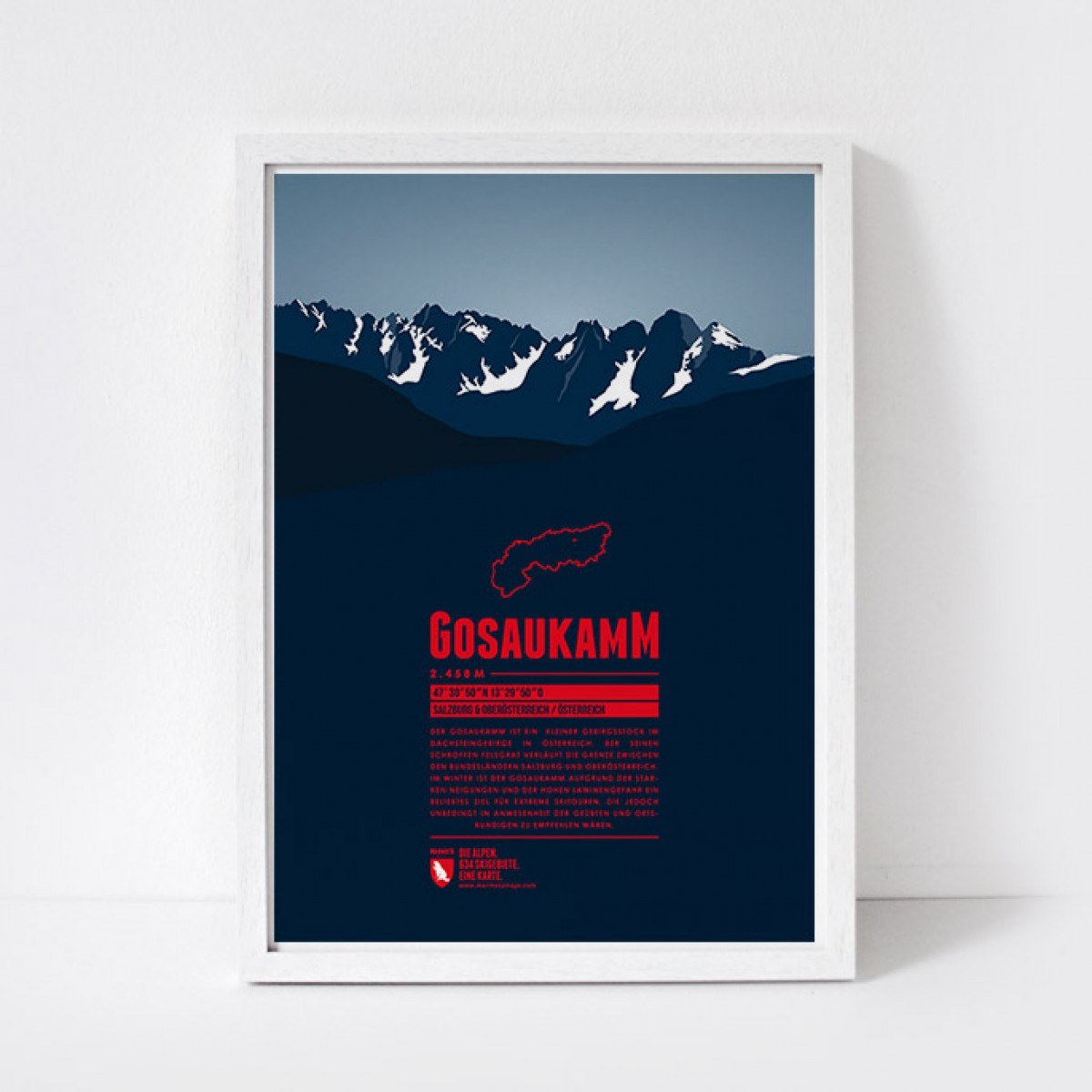 Marmota Maps – Gosaukamm - Bergdruck
