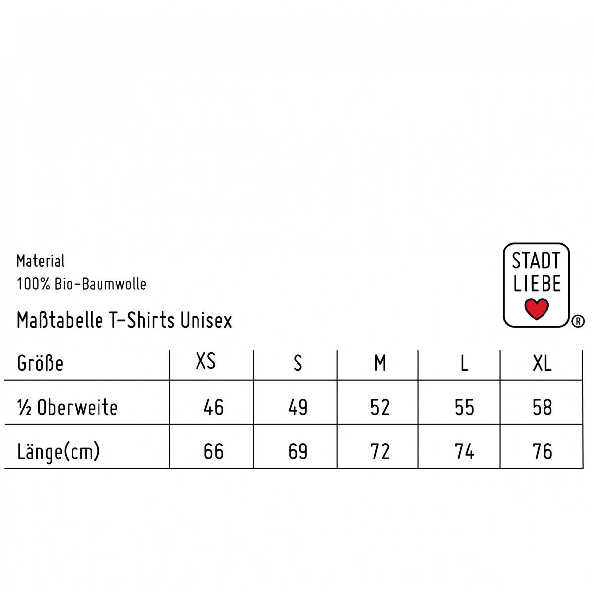 """Stadtliebe®   München T-Shirt mit gesticktem """"Edelweiß"""" Mandarin 100% Bio-Baumwolle"""