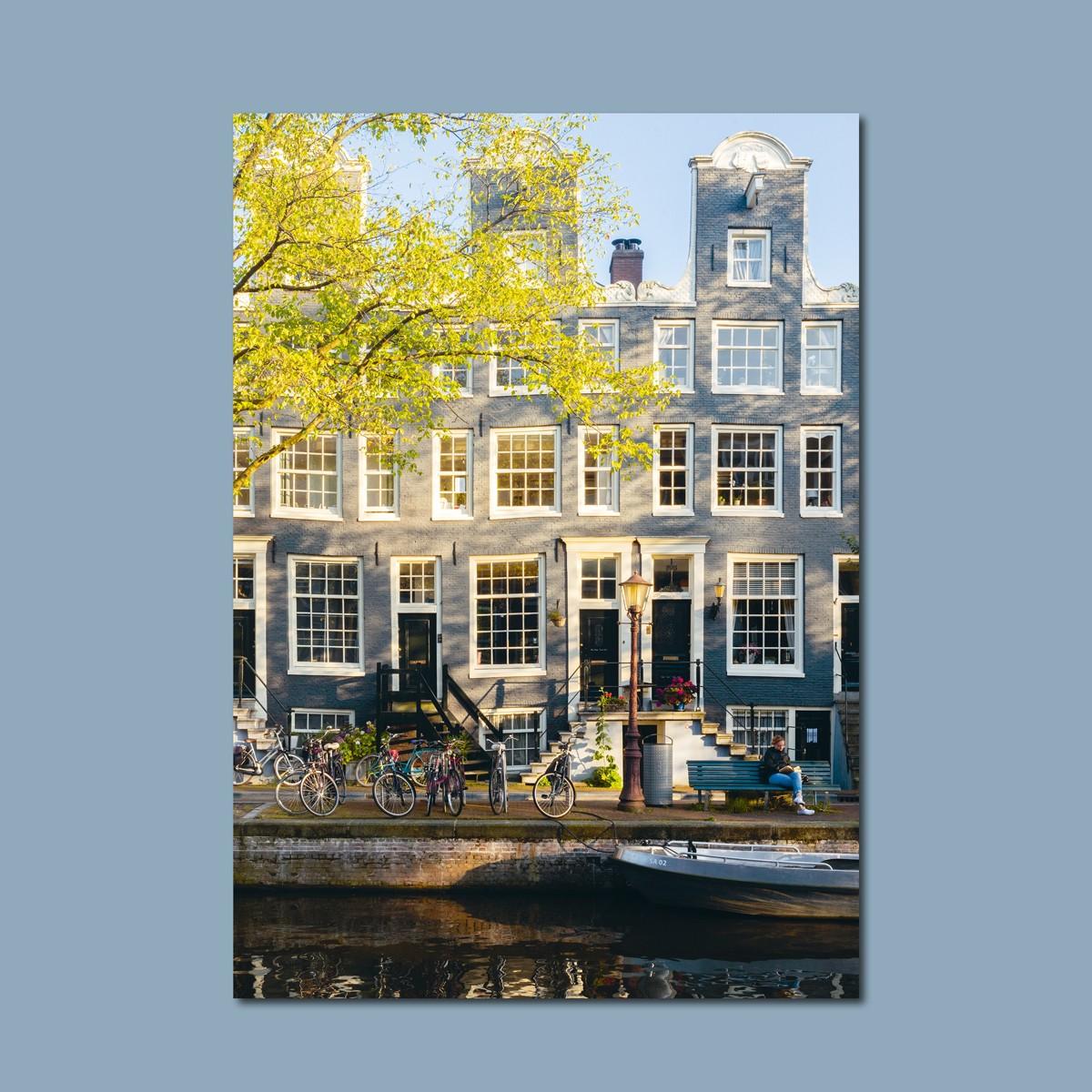 'Gracht Amsterdam' limitierter Fotodruck auf Naturpapier, DIN A2, klimaneutral gedruckt  / Ankerwechsel Verlag