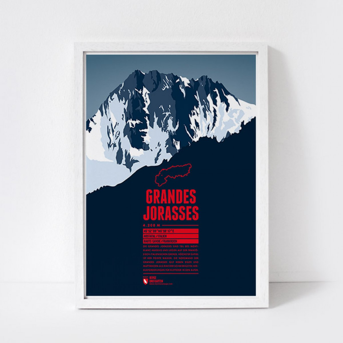 Marmota Maps – Grandes Jorasses - Bergdruck