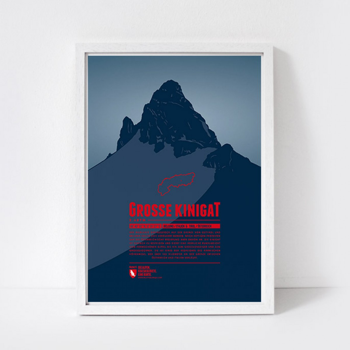 Marmota Maps – Große Kinigat  - Bergdruck