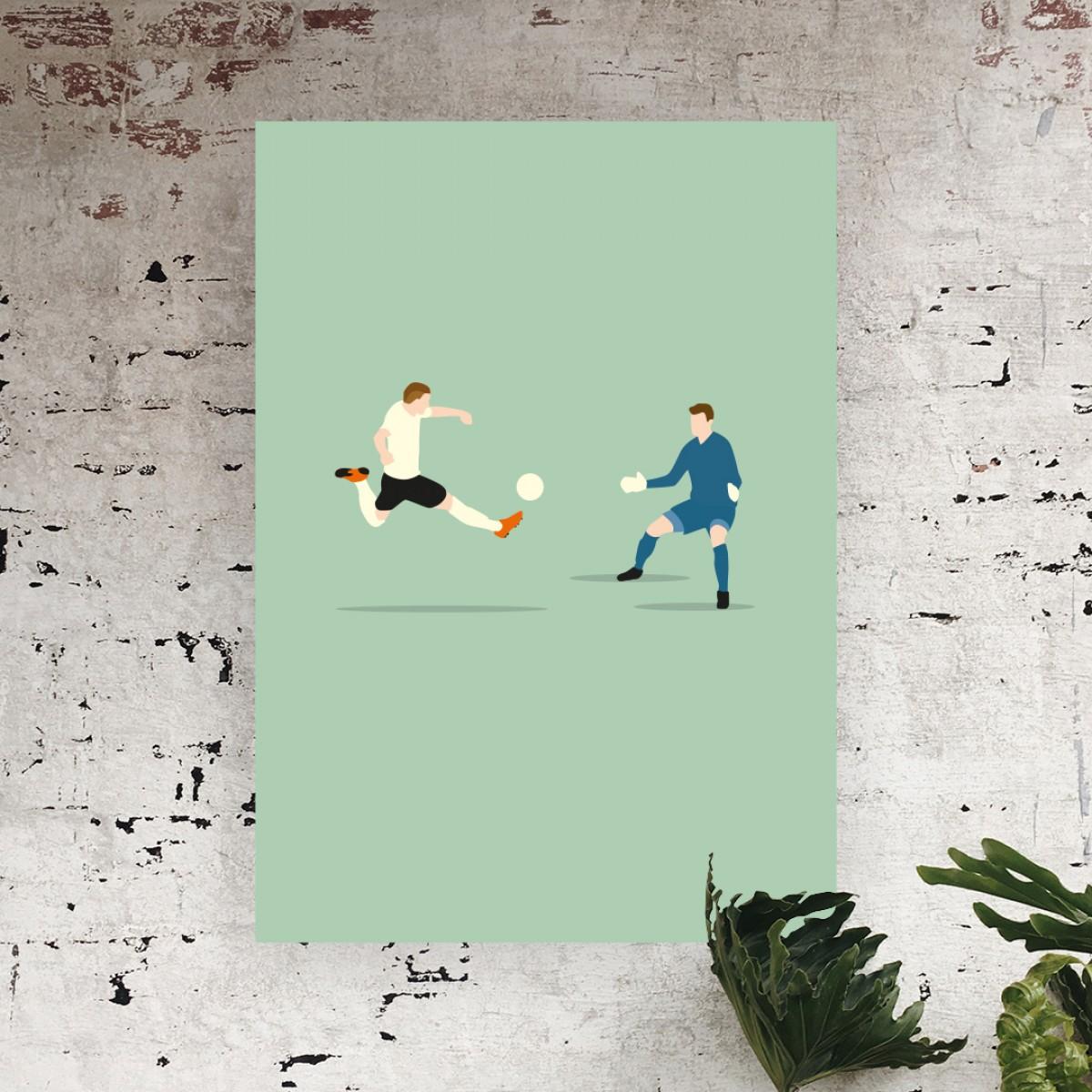 """Bruda"" Fußballposter von HANDS OF GOD FOOTBALL"