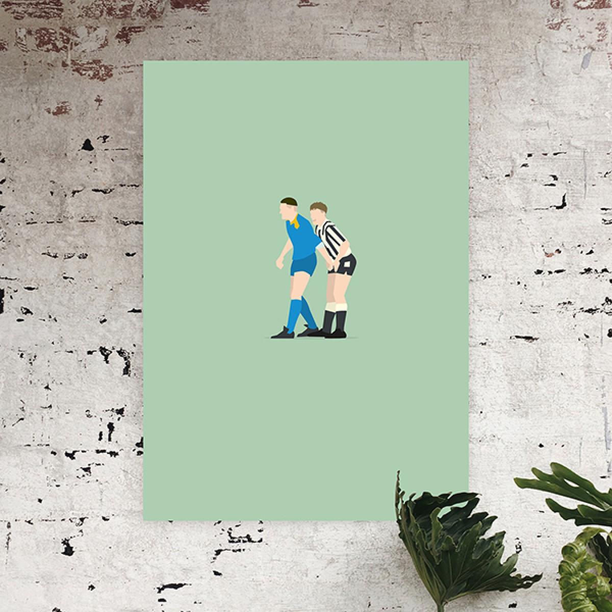 """""""Vinnie + Gazza"""" Fußballposter von HANDS OF GOD"""