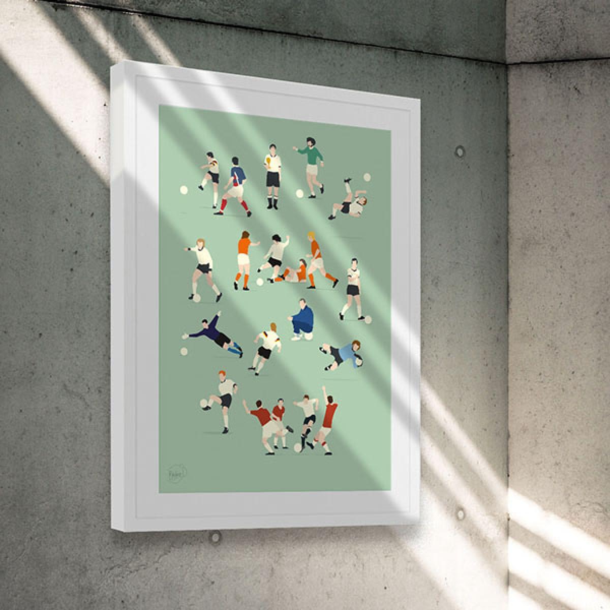 """""""Hall of Fame"""" Fußballposter von HANDS OF GOD"""