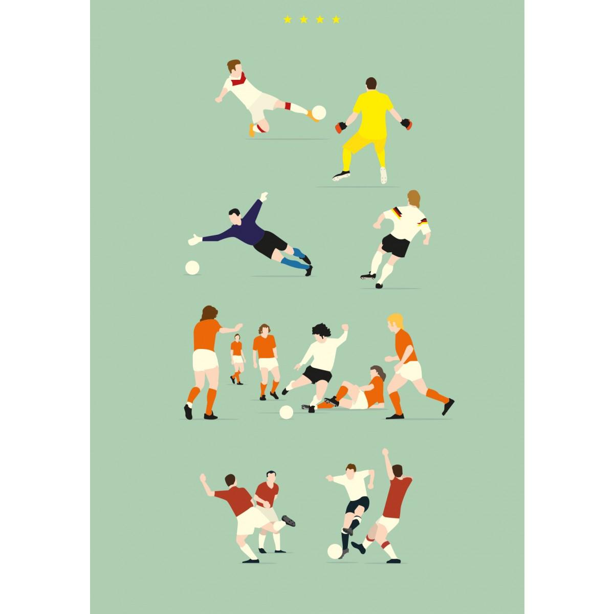 """Four Stars"" Fußball-Poster von HANDS OF GOD FOOTBALL"