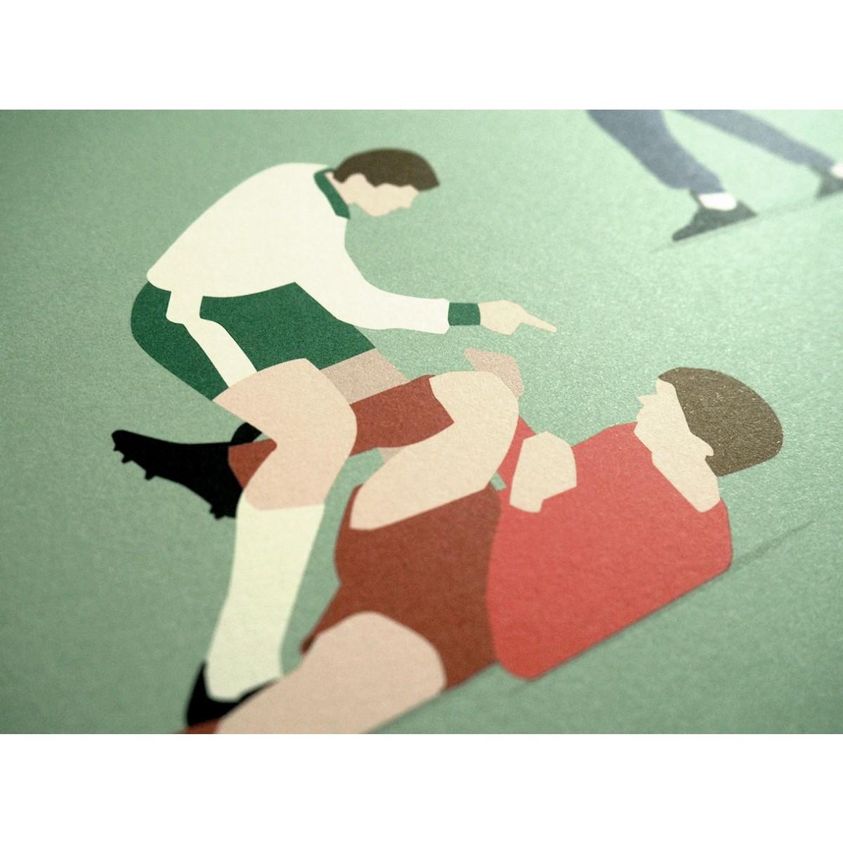 """""""Werder Legends"""" Fußball-Poster von HANDS OF GOD FOOTBALL"""