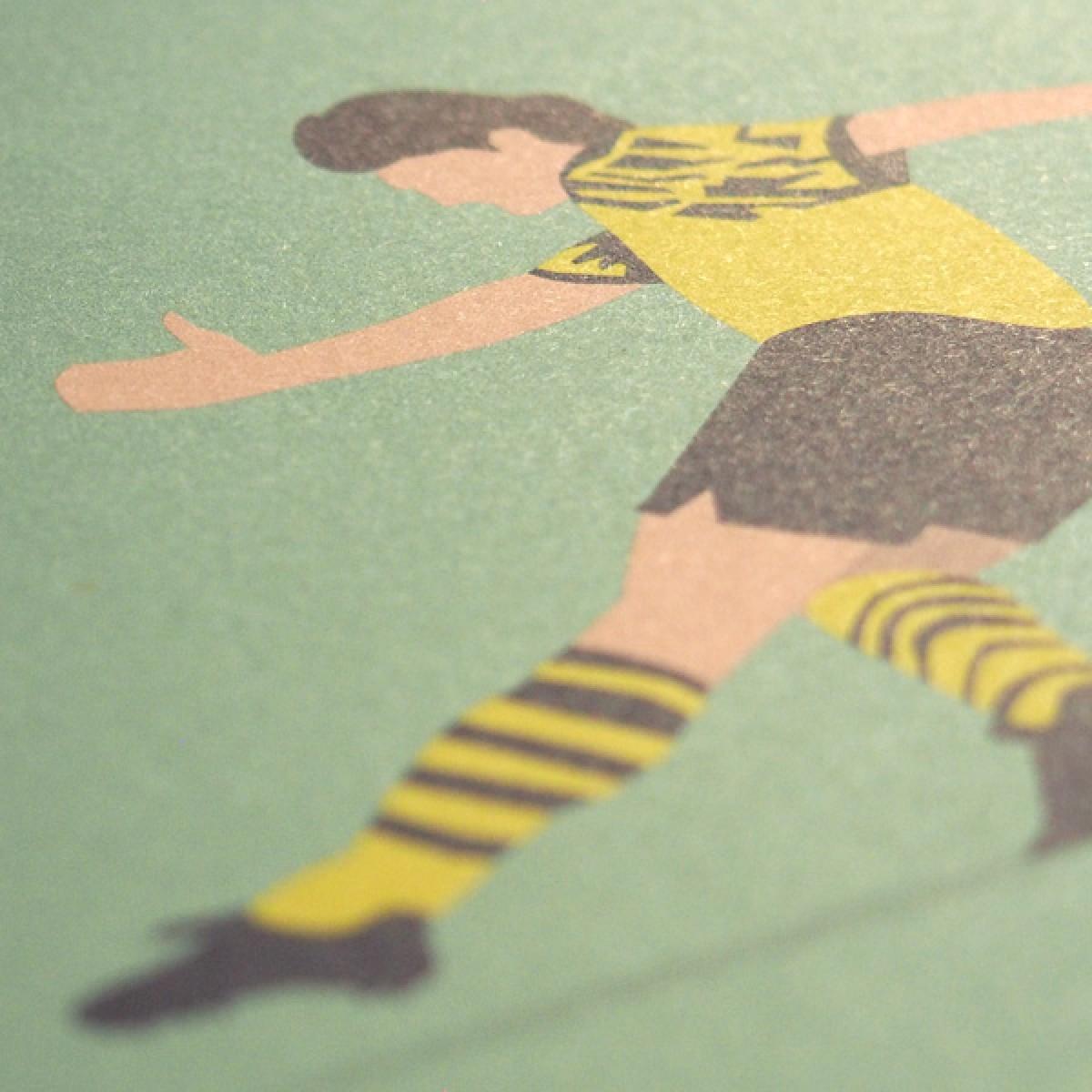 """Das offizielle """"BVB Legends"""" Fußballposter von HANDS OF GOD"""