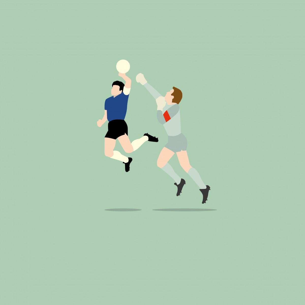 """51 I 1986"" Fußball-Poster von HANDS OF GOD FOOTBALL"